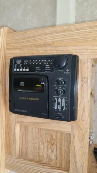 old tape player/radio