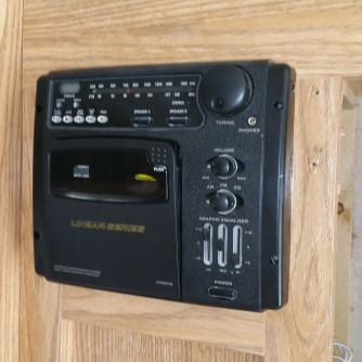 old tape player/radio