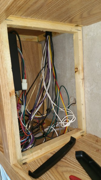 mess of wires. a lot went away