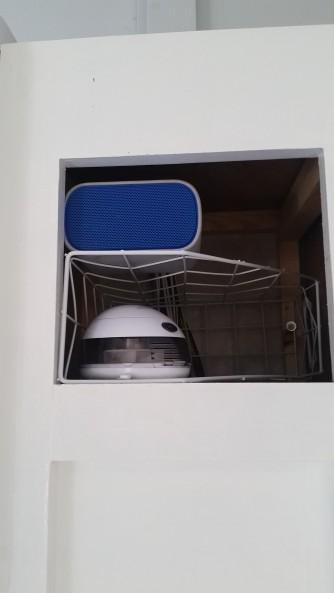 new spot for bluetooth speaker & oil diffuser